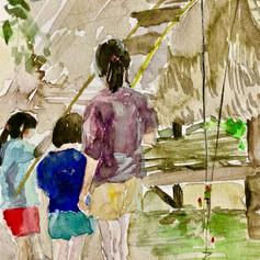 Children Fishing, Cambodia