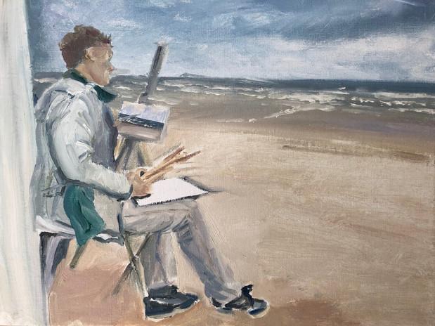 Painting Scheveningen (plein air study)