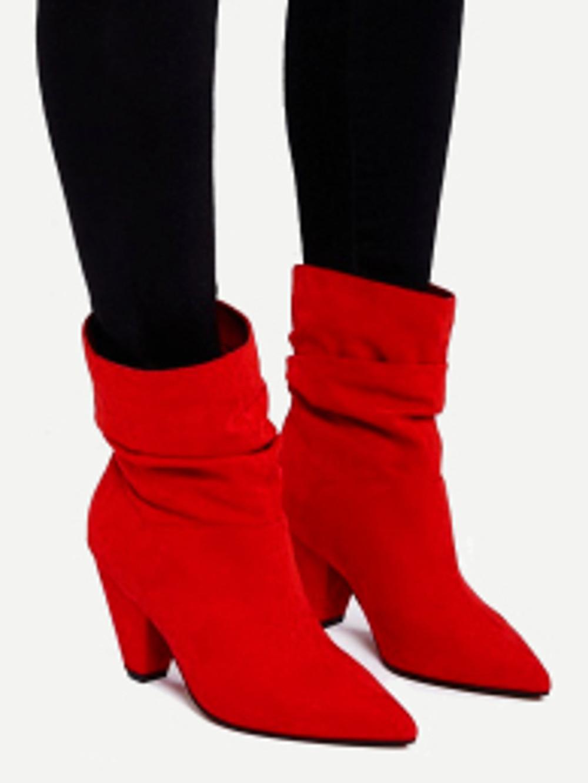 bottines fluides rouges