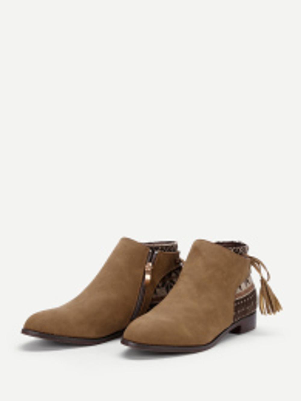 boots chelsea avec détail frange 1