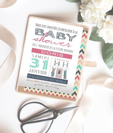 Invitation Baby Shower (janvier 2015)