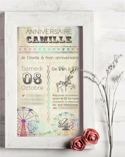 Invitation Anniversaire Fête Foraine (Octobre 2016)