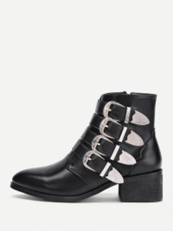boots à boucles - shein