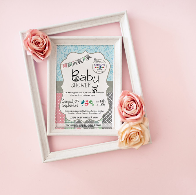 Invitation Baby Shower Toys'R'Us (Septembre 2016)