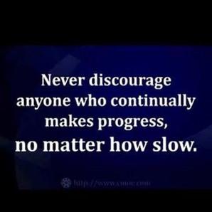encourage progress