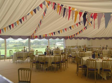 Inside for a wedding