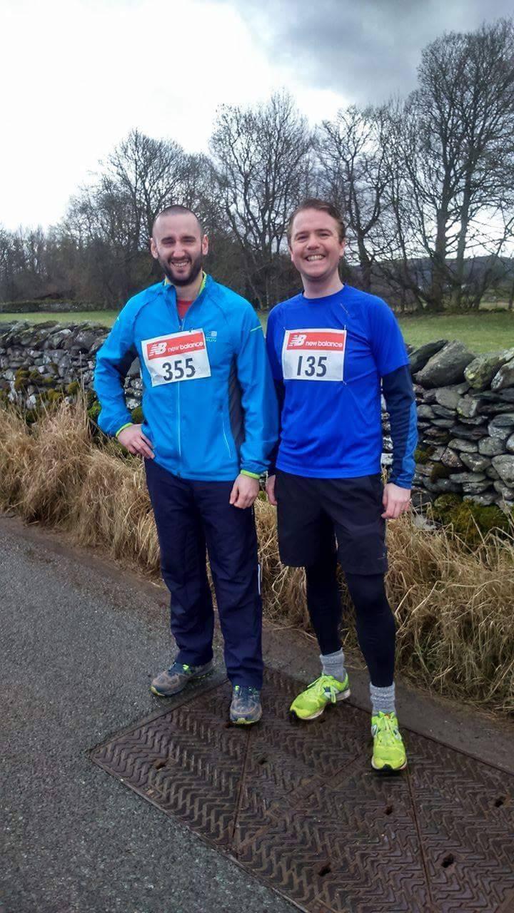 Mark (left) and his running friend John