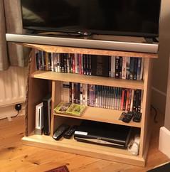 Waned edge TV stand.
