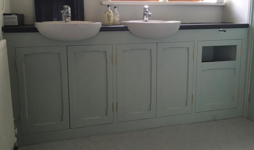 Vanity cabinets.