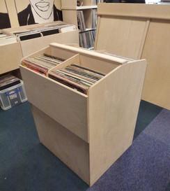 Vinyl display booth.