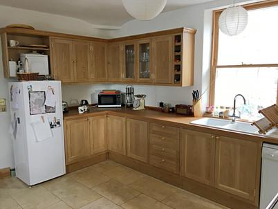 Solid oak corner kitchen.