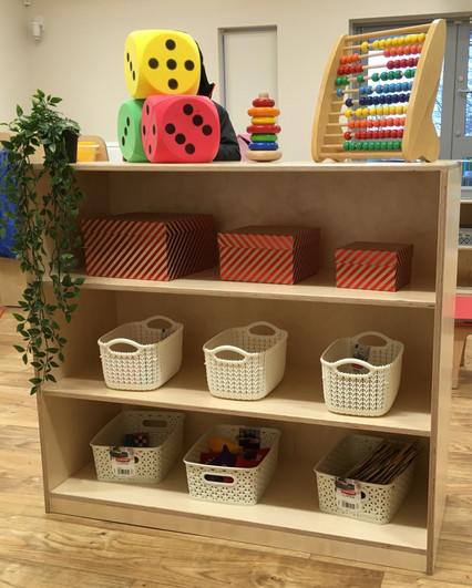 Small world shelf unit.