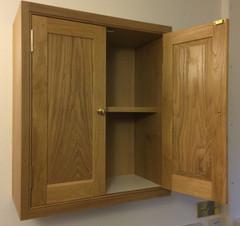 Solid oak cabinet.