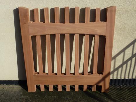Hardwood gate.
