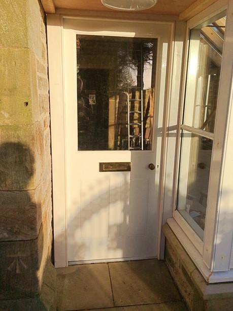 Diminshed stile door and frame.