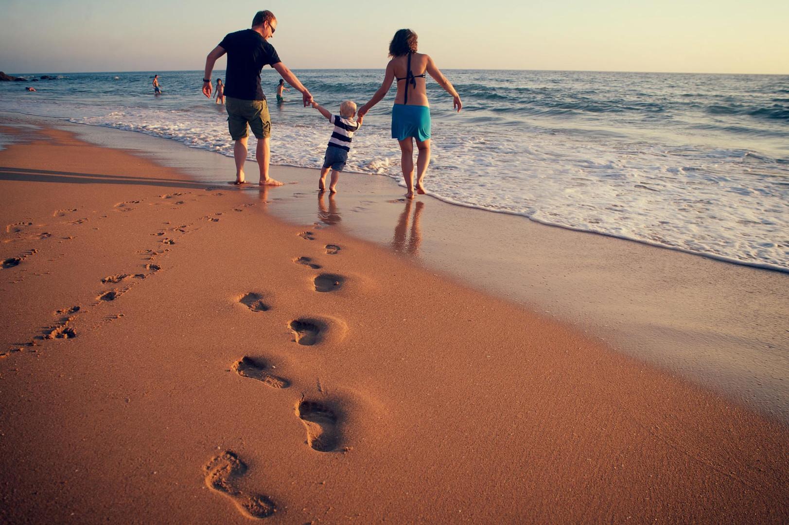 En familia a la playa