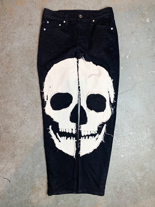 (Black) Skull Denim - Slim Fit