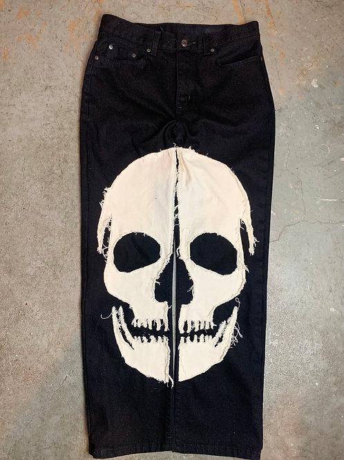 (Black) Skull Denim - Regular Fit