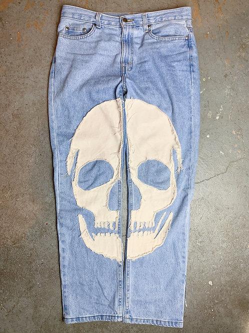(Blue) Skull Denim - Regular Fit