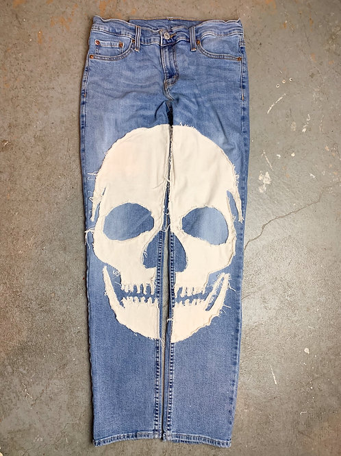 (Blue) Skull Denim - Slim Fit