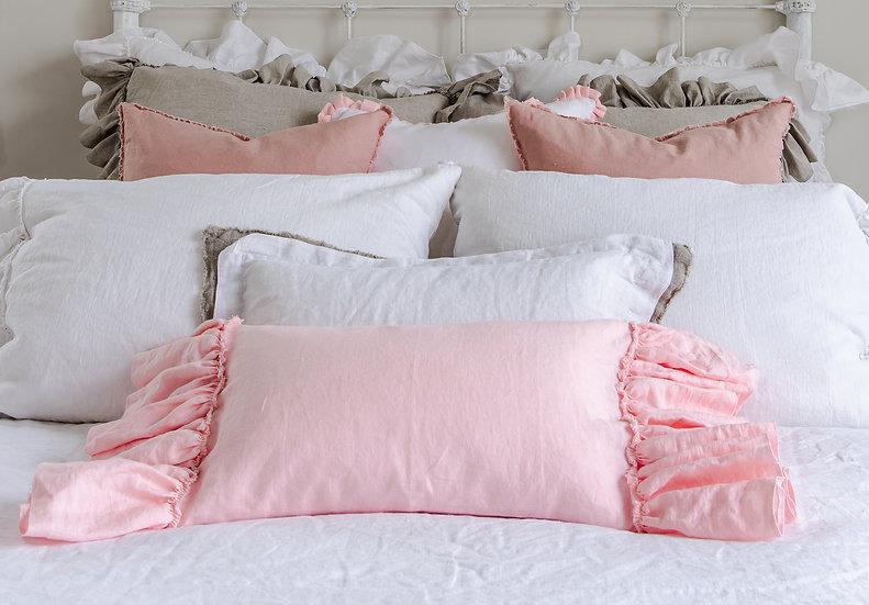 Lumbar Ruffle Pillow Slip