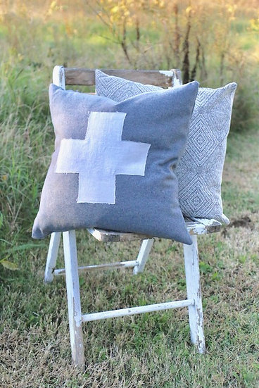 Wool Swiss Cross Pillow slip