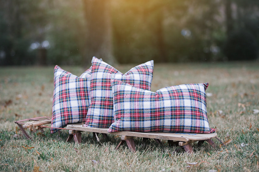 Red Plaid Pillow slip