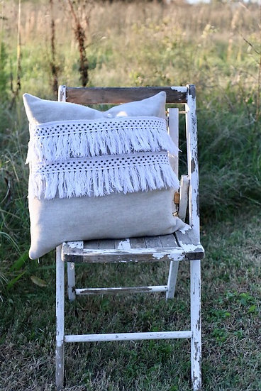 Double Fringe Pillow Slip