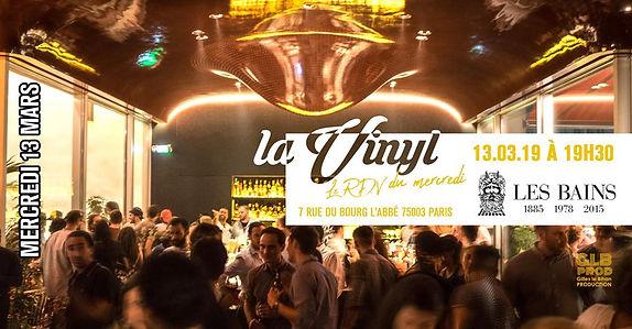 13/03/2019 La vinyl aux Bains | Les Soirées La Vinyl | France