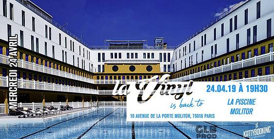 24/04/2019 La Piscine À Molitor | Les Soirées La Vinyl | France