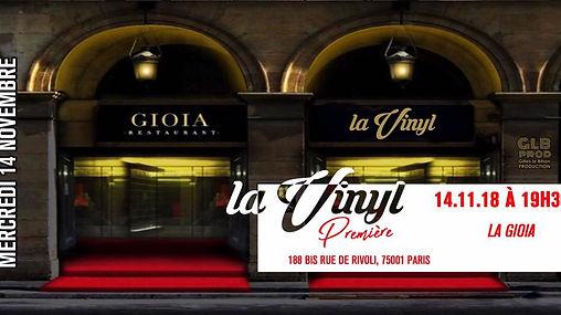 14/11/2018 Première GIOIA | Les Soirées La Vinyl | France