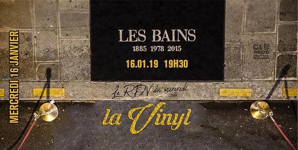 16/01/2019 La vinyl aux Bains | Les Soirées La Vinyl | France