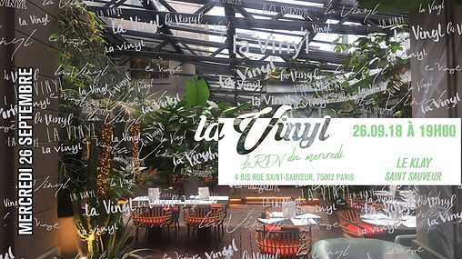 26/09/2018 La vinyl au Klay | Les Soirées La Vinyl | France