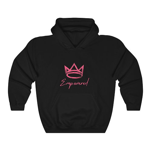 Empowered Hoodie: Black and Pink