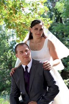 couple dans la forêt marié