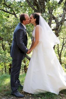 Couple marié bisous