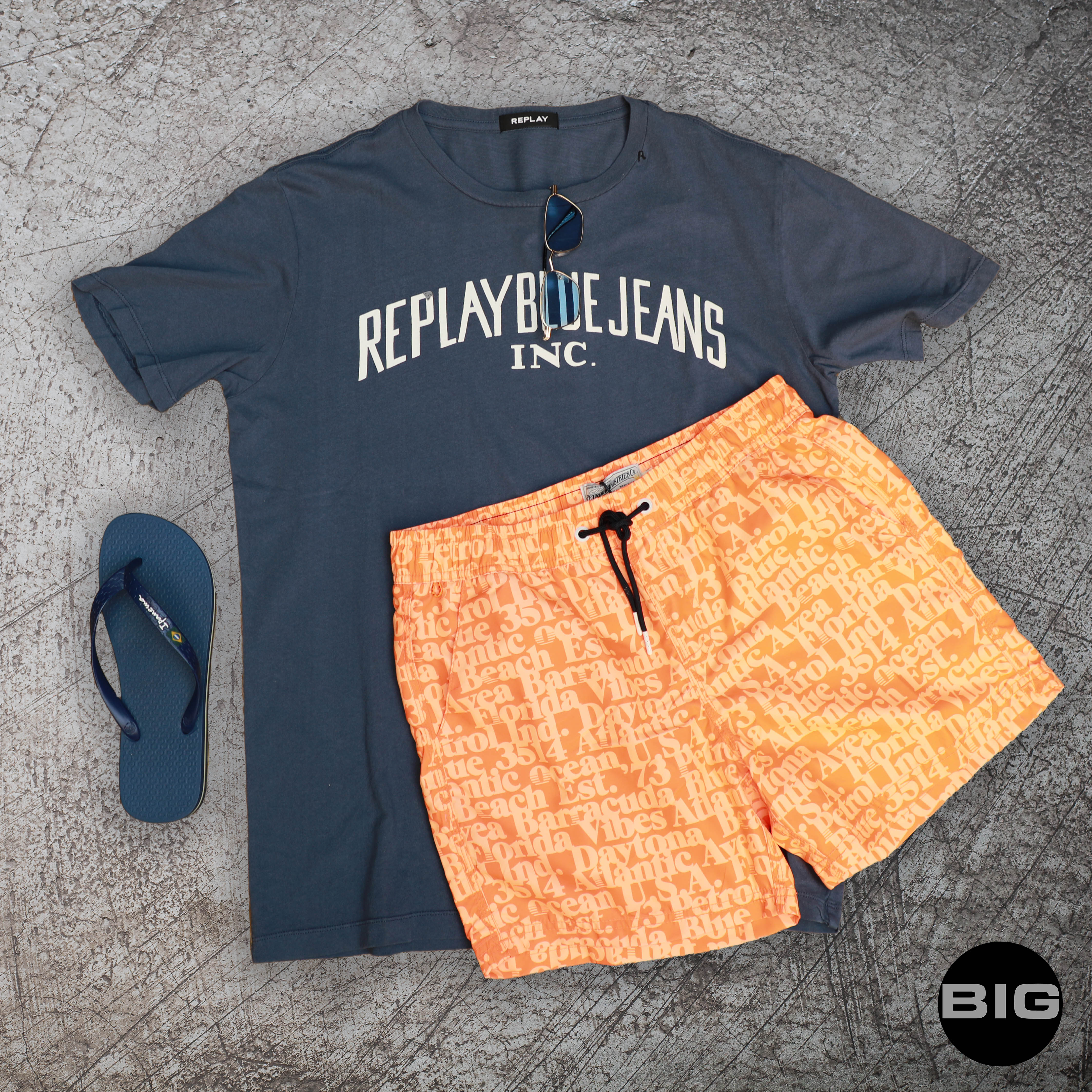 Homme replay + maillot orange
