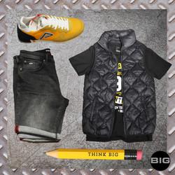tenue homme noir et jaune 2