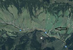 Satellite view of the village Zdiar