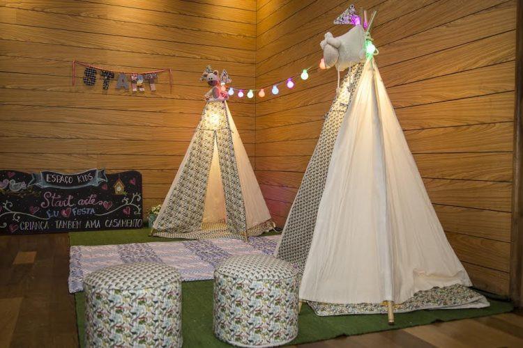 Cantinho Wedding Kids empresa Start ArteTranquilidade para os pais e diversão para as crianças!