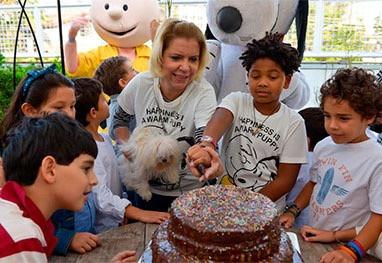 Apresentadora apostou na criatividade para comemorar o aniversário de Gabriel, em São Paulo