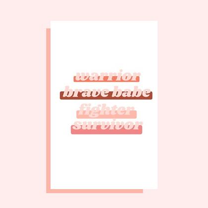 Brave Babe Greeting Card