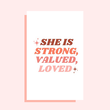 She is Strong Greeting Card