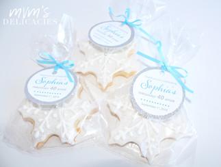 Snowflake Favor Cookies