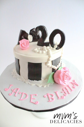 Timeless Birthday Pearls Cake