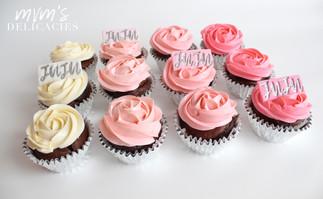 Rosette Ombre Cupcakes