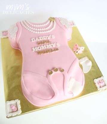 Baby Girl Onesie Cake