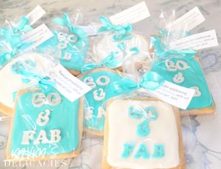 Teal Birthday Cookies