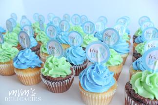 Baby Boy Blue Cupcakes