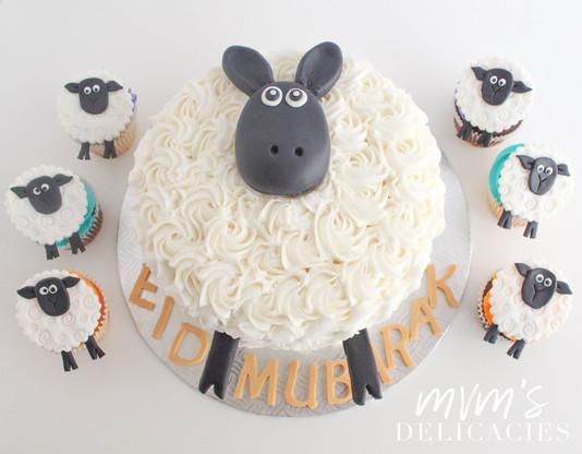 Eid Moubaral Sheep Cake